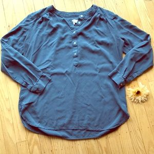 Blue long sleeve button down by Ann Taylor LOFT 💙